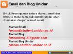email dan blog unidar
