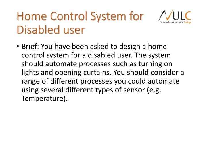 Home Control System for Disabled user