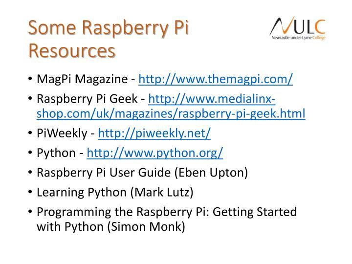 Some Raspberry Pi Resources