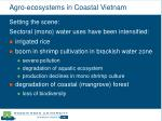 agro ecosystems in coastal vietnam