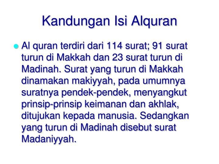 Kandungan Isi Alquran