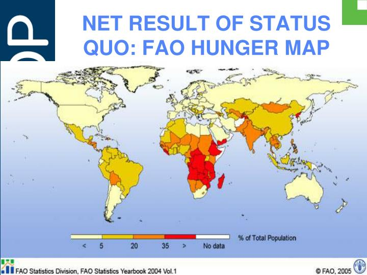 NET RESULT OF STATUS QUO: FAO HUNGER MAP