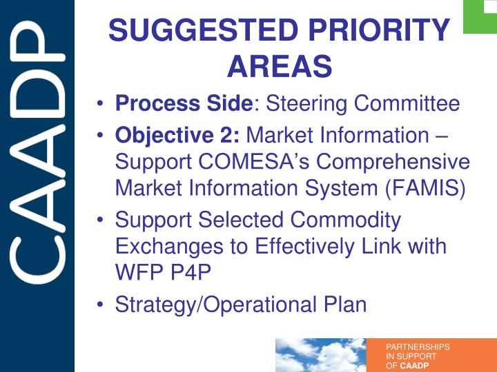 SUGGESTED PRIORITY AREAS