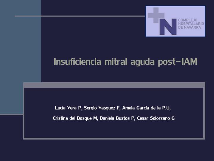 insuficiencia mitral aguda post iam