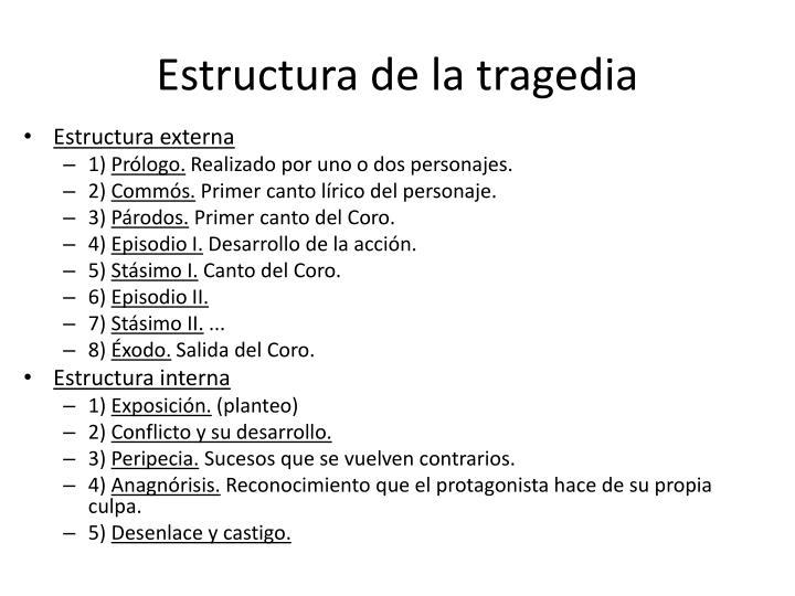 Estructura de la tragedia