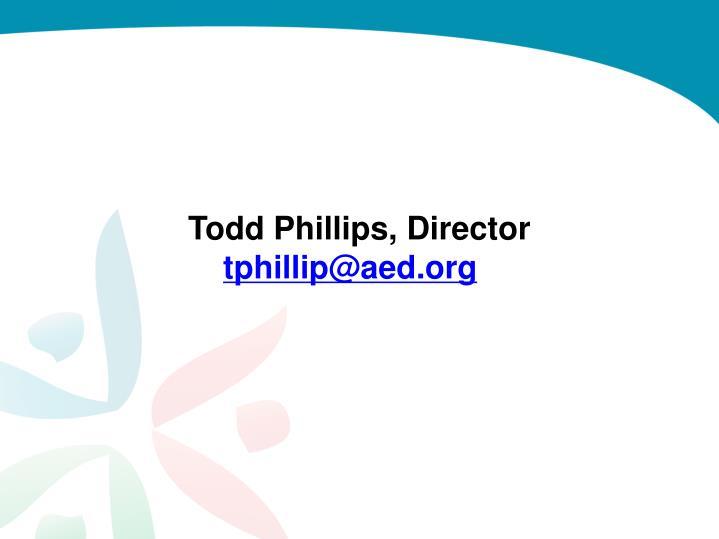 Todd Phillips, Director