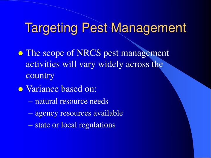 Targeting pest management1