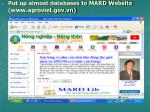 put up almost databases to mard website www agroviet gov vn