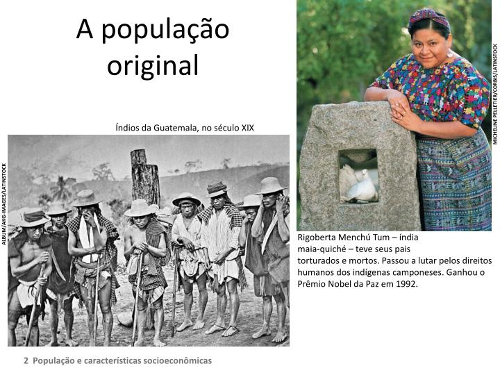 A popula o original