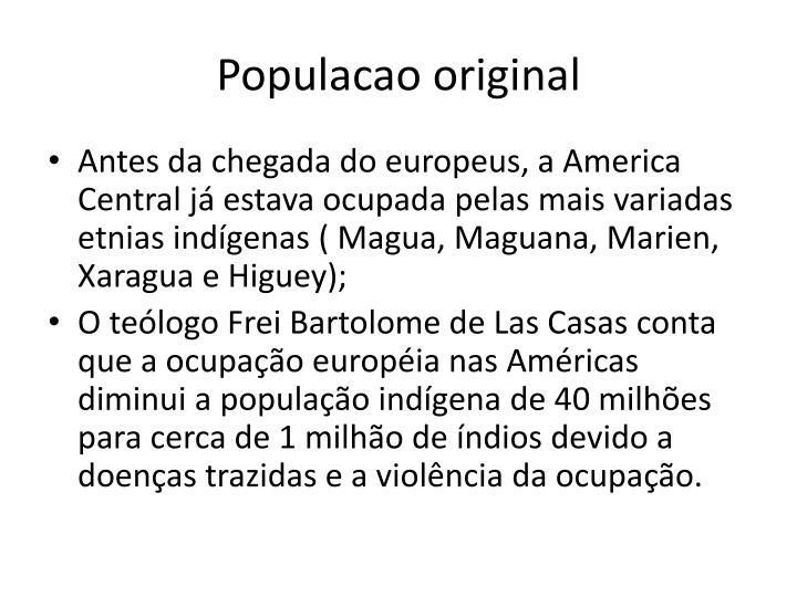 Populacao original