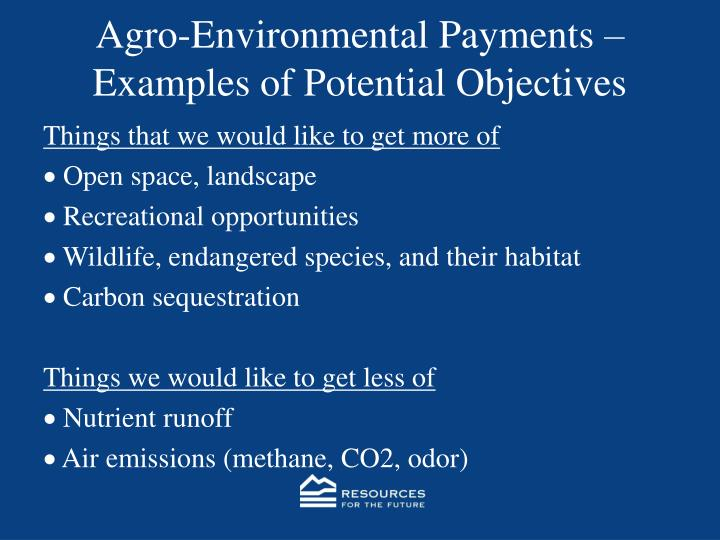 Agro-Environmental Payments –