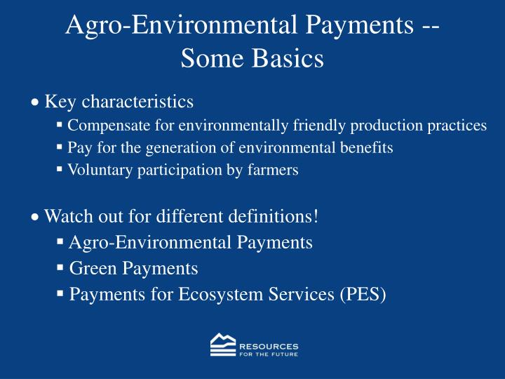 Agro-Environmental Payments --