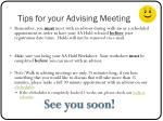 tips for your advising meeting