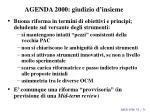 agenda 2000 giudizio d insieme