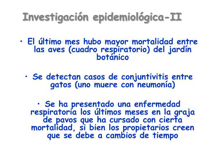 Investigación epidemiológica-II