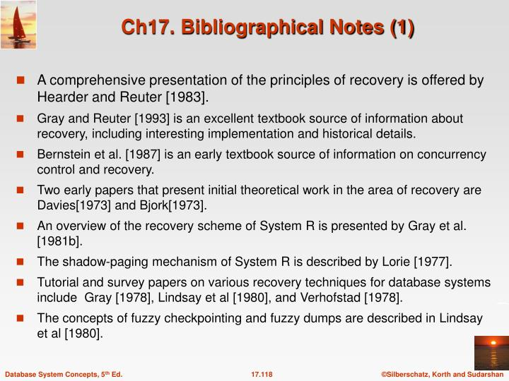 Ch17. Bibliographical Notes (1)