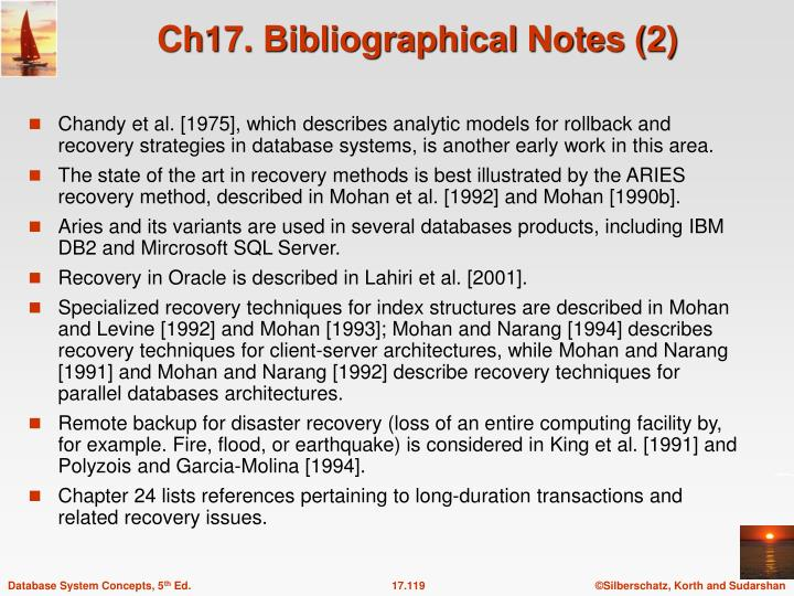 Ch17. Bibliographical Notes (2)