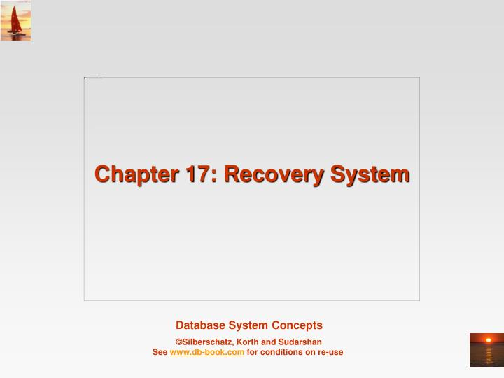 Chapter 17 recovery system