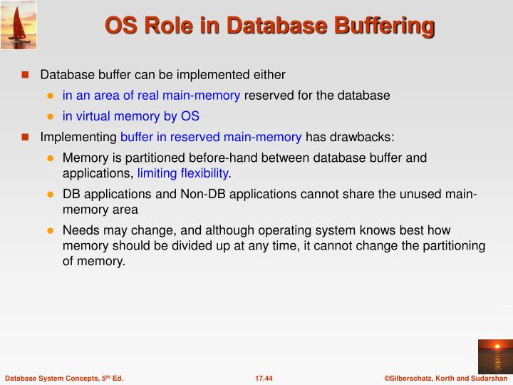 Database buffer can be implemented either