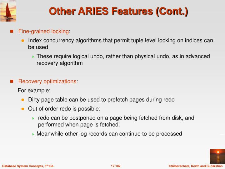 Other ARIES Features (Cont.)