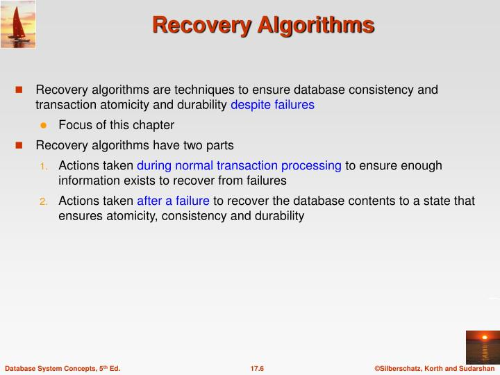 Recovery Algorithms