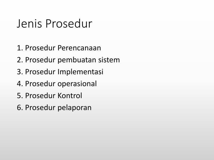 Jenis prosedur