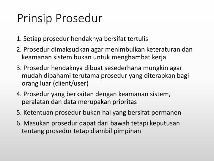 Prinsip Prosedur