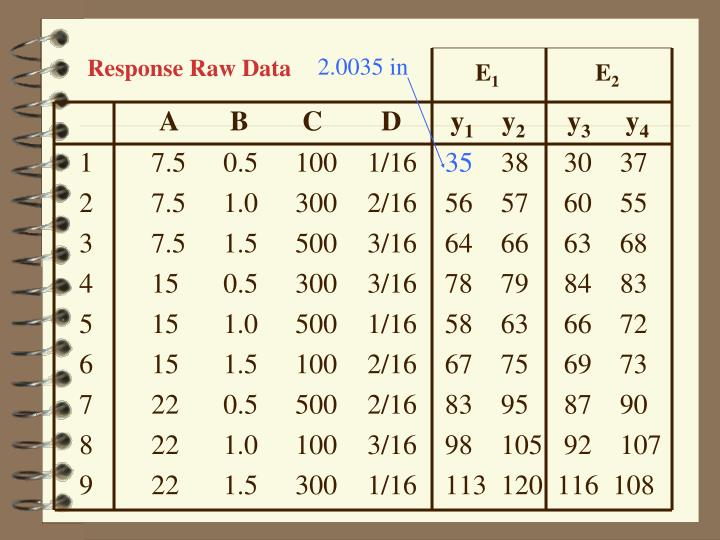 Response Raw Data