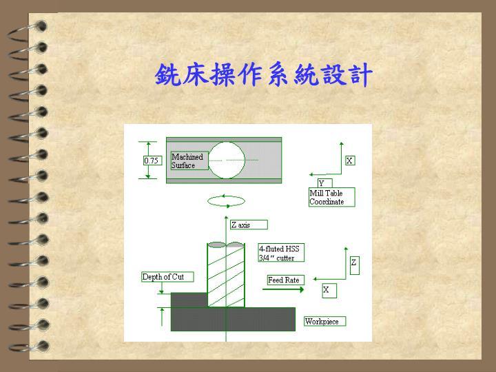 銑床操作系統設計