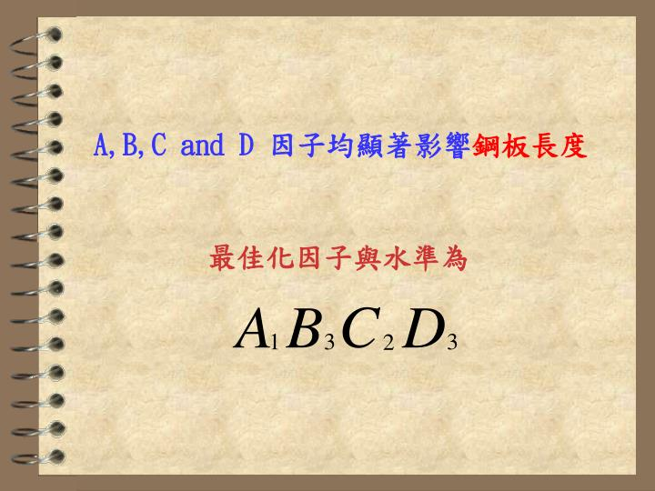 A,B,C and D