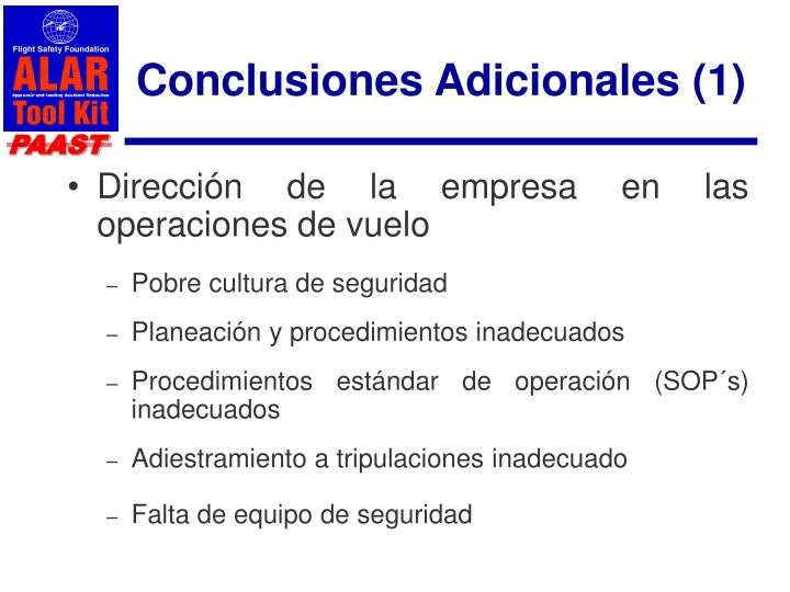 Conclusiones Adicionales (1)
