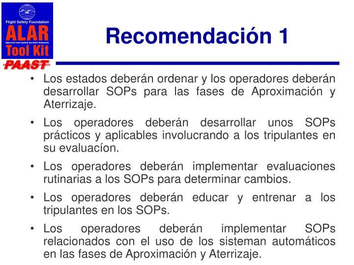 Recomendación 1