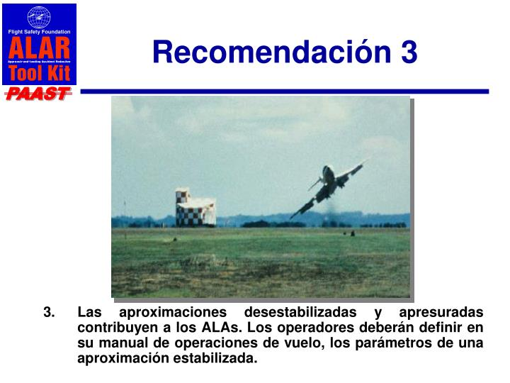 Recomendación 3