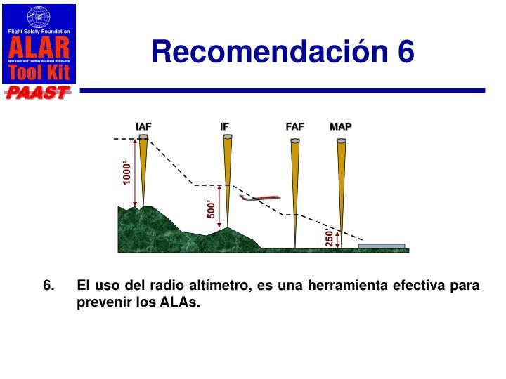 Recomendación 6