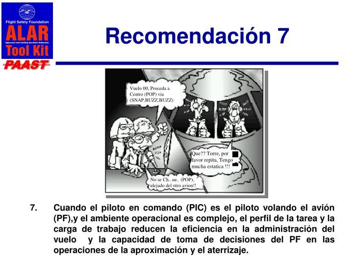 Recomendación 7