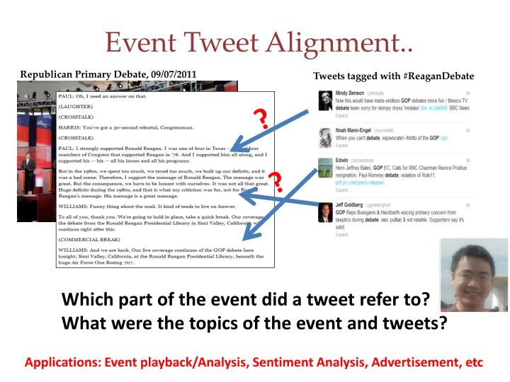 Event Tweet Alignment..