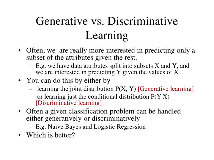 Generative vs. Discriminative Learning