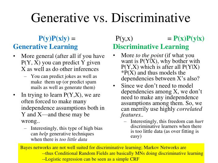 Generative vs. Discriminative