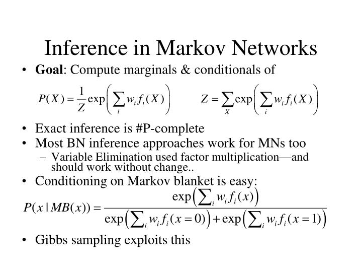 Inference in Markov Networks