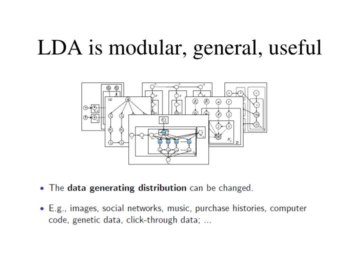 LDA is modular, general, useful