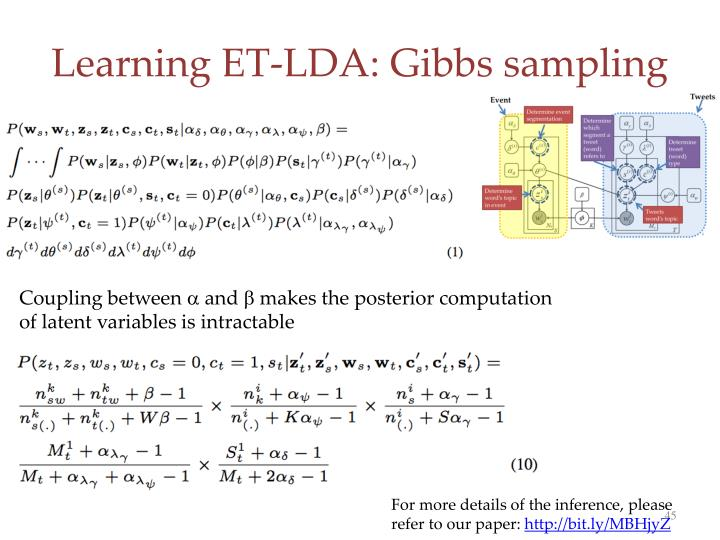 Learning ET-LDA: Gibbs sampling