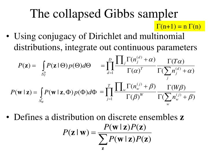 The collapsed Gibbs sampler