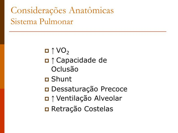 Considerações Anatômicas