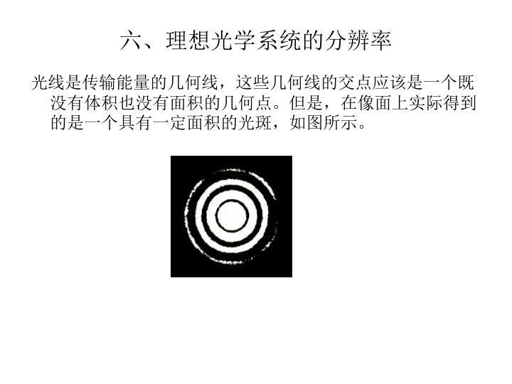 六、理想光学系统的分辨率