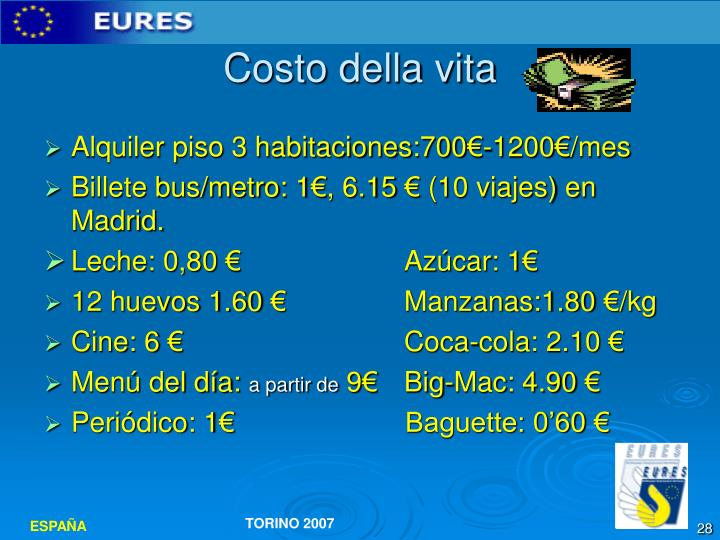 Costo della vita