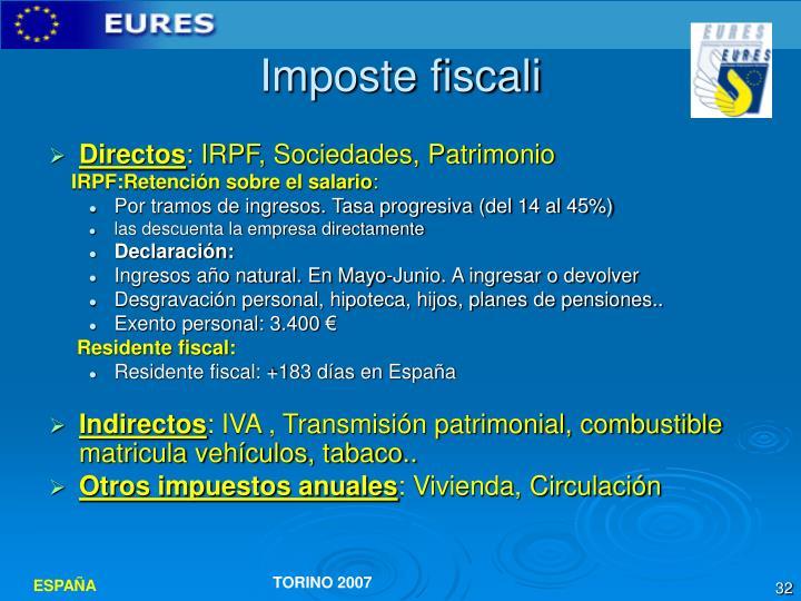 Imposte fiscali