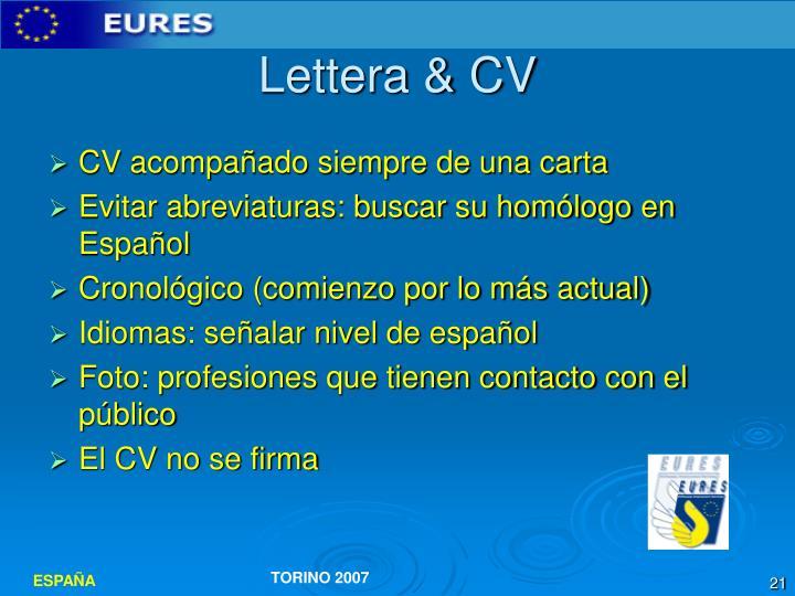 Lettera & CV
