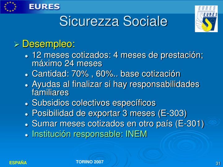 Sicurezza Sociale