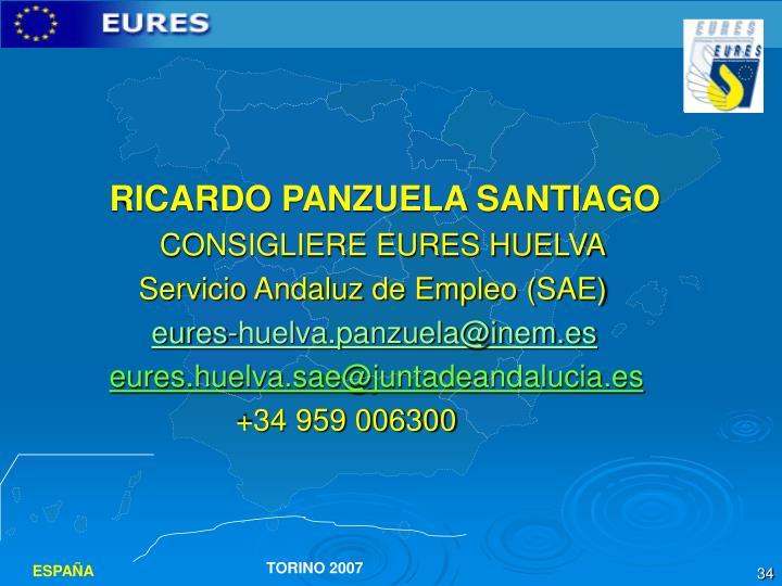 RICARDO PANZUELA SANTIAGO