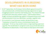 developments in eurozone what has been done